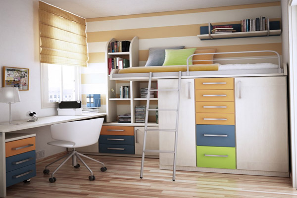 Consejos para aprovechar el espacio en tu casa - Making space in a small bedroom image ...